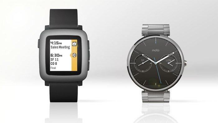 So sánh đồng hồ thông minh Motorola Moto 360 và Pebble Time
