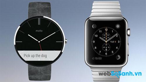 So sánh đồng hồ thông minh Apple Watch và Moto 360