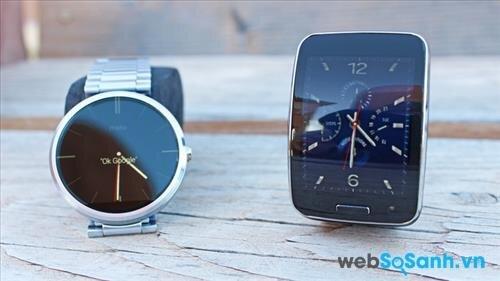 So sánh đồng hồ thông minh Motorola Moto 360 và Samsung Gear S