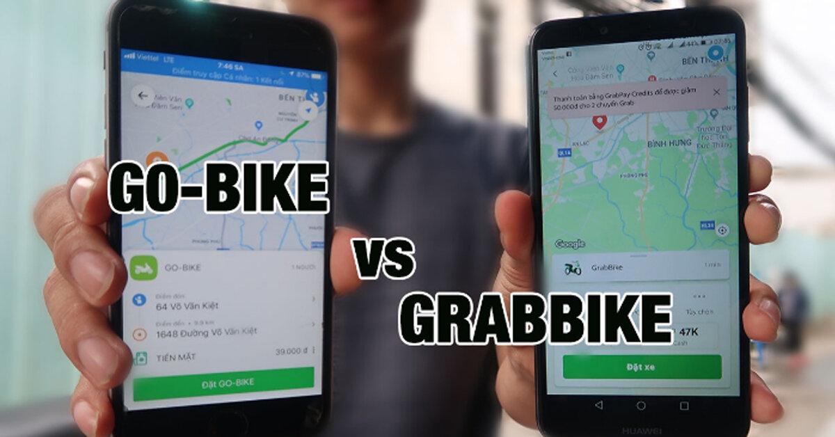 So sánh giá cước dịch vụ xe ôm của Grab và Go-Viet : đi bên nào tiết kiệm mà được phục vụ tốt hơn ?