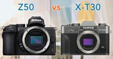 So sánh hai chiếc máy ảnh Fujifilm X-T30 và Nikon Z50