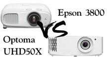 So sánh hai chiếc máy chiếu Epson 3800 và Optoma UHD50X