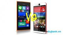 So sánh hai điện thoại thông minh HTC Desire Eye và Microsoft Nokia Lumia 735