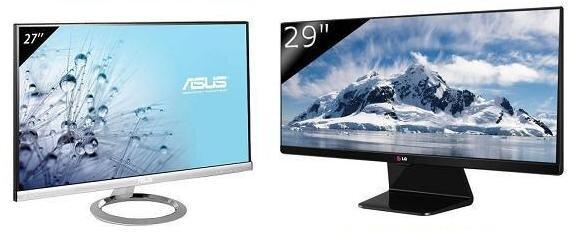So sánh hai màn hình máy tính Asus MX279H và LG 29UM65