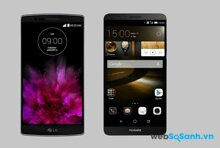 So sánh hai mẫu điện thoại thông minh LG G Flex 2 và Huawei Ascend Mate 7