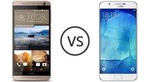 So sánh hai mẫu điện thoại thông minh Galaxy A8 và One E9 Plus