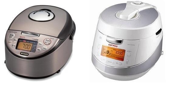 So sánh hai mẫu nồi cơm điện cao cấp Tiger JKJ-G18W và Cuckoo CRP-HN1056F