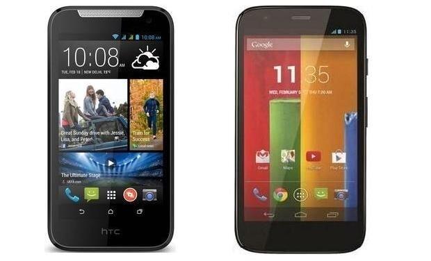 So sánh HTC Desire 310 và Motorola Moto E: Smartphone giá rẻ hiệu năng tốt