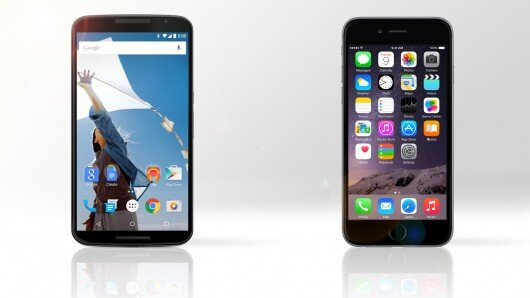So sánh iPhone 6 và Google Nexus 6: Phablet nào thống trị năm 2014?