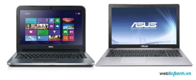 So sánh laptop Asus K451LA–WX092D và Dell Inspiron 15 3537 tầm trung