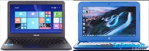 So sánh laptop giá rẻ Asus EeeBook X205TA và HP Stream 11