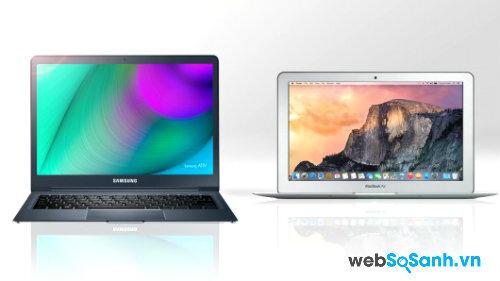 So sánh laptop mỏng nhẹ  Samsung Ativ Book 9 (2015) và  MacBook Air (2014)