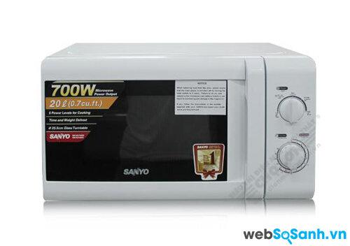 So sánh lò vi sóng Sharp R201VNW và Sanyo EM-S2182W