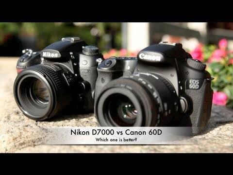 So sánh máy ảnh Canon 60D và Nikon D7000
