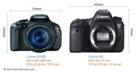 So sánh máy ảnh Canon EOS 600D và Canon EOS 6D