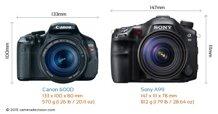 So sánh máy ảnh Canon EOS 600D và Sony A99