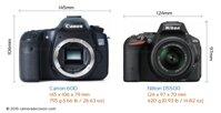 So sánh máy ảnh Canon EOS 60D và Nikon D5500