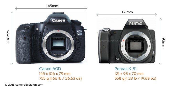 So sánh máy ảnh Canon EOS 60D và Pentax K-S1