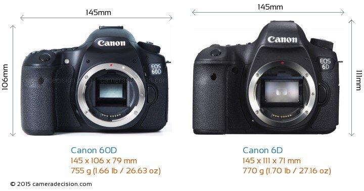 So sánh máy ảnh Canon EOS 6D và Canon EOS 60D