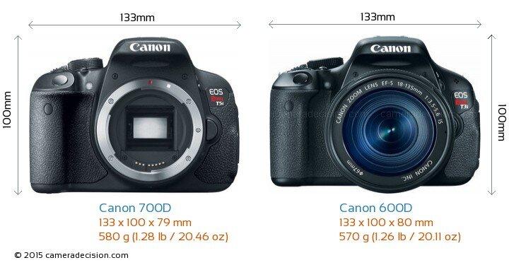 So sánh máy ảnh Canon EOS 700D và Canon EOS 600D