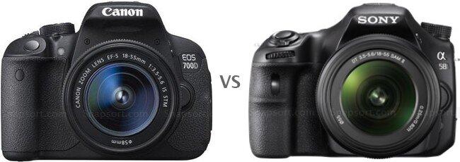 So sánh máy ảnh Canon EOS 700D và Sony A58