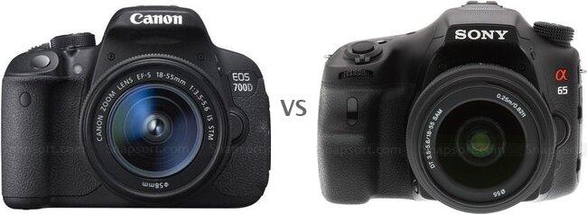 So sánh máy ảnh Canon EOS 700D và Sony A65
