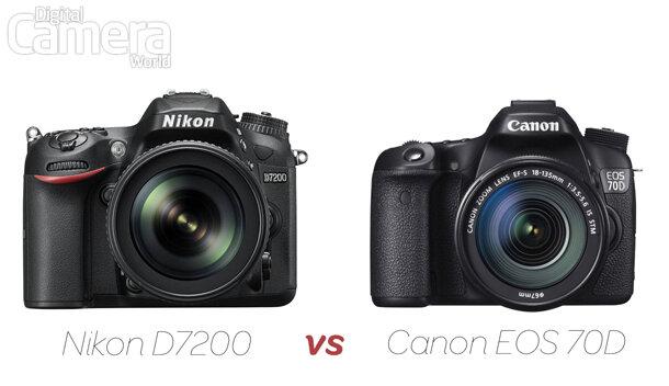 So sánh máy ảnh Canon EOS 70D và Nikon D7200