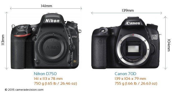 So sánh máy ảnh Canon EOS 70D và Nikon D750