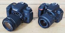 So sánh máy ảnh Canon EOS 750D và Nikon D5500