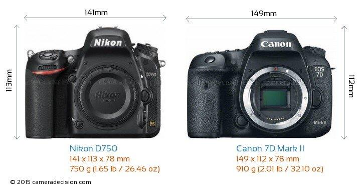 So sánh máy ảnh Canon EOS 7D và Nikon D750