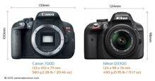 So sánh máy ảnh Canon EOS 7D và Nikon D3300