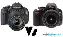 So sánh máy ảnh Canon EOS Rebel T3i Và Nikon D5100