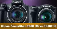 So sánh máy ảnh Canon SX50 HS và Canon SX500 IS