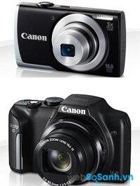 So sánh máy ảnh Canon PowerShot A2500 và Canon PowerShot SX170 IS