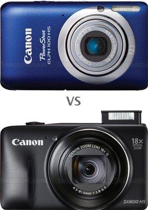 So sánh máy ảnh compact Canon IXUS 115 HS với Canon PowerShot SX600 HS