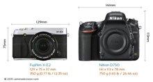 So sánh máy ảnh Fujifilm X-E2 và Nikon D750