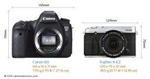 So sánh máy ảnh Fujifilm X-E2 và Canon EOS 6D