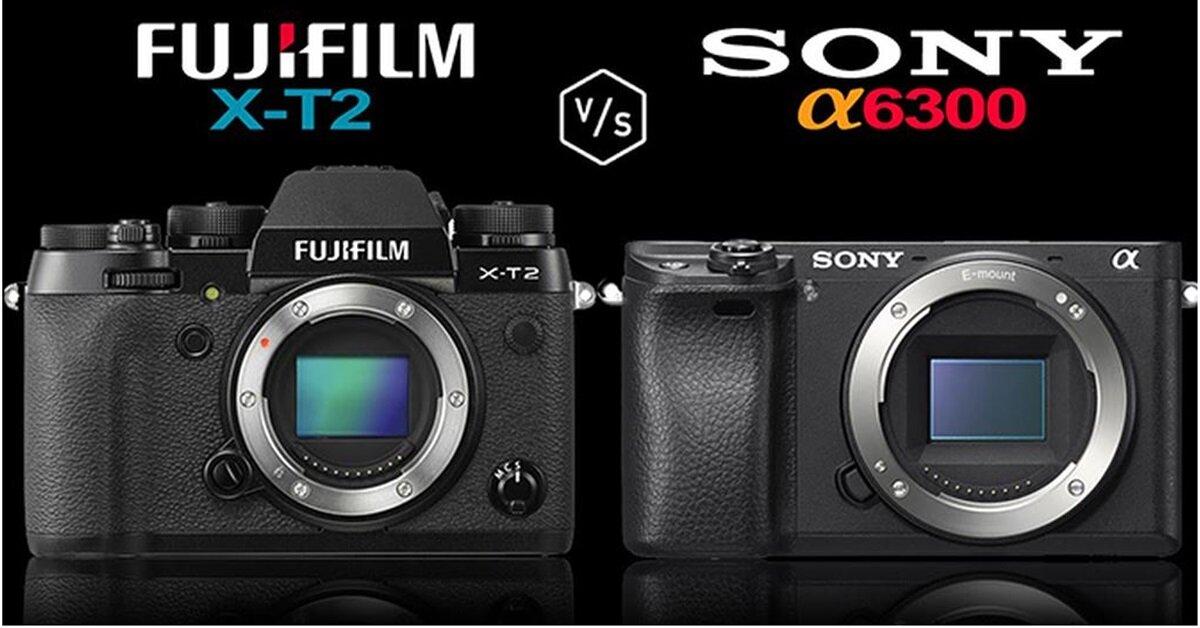 So sánh máy ảnh mirrorless Fujifilm X-T2 và máy ảnh Sony A6300