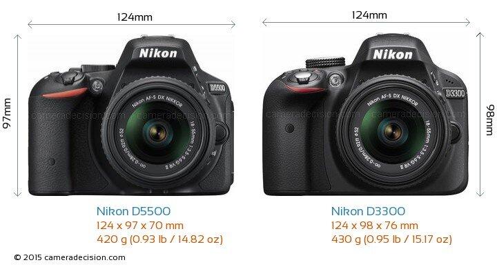 So sánh máy ảnh Nikon D3300 và Nikon D5500