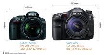 So sánh máy ảnh Nikon D5300 và Sony A99
