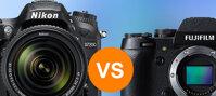 So sánh máy ảnh Nikon D7200 và Fuji X-T1