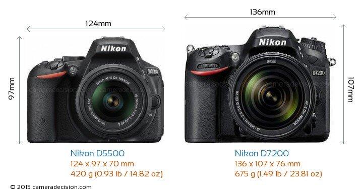 So sánh máy ảnh Nikon D7200 và Nikon D5500