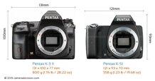 So sánh máy ảnh Pentax K-3 II và Pentax K-S1