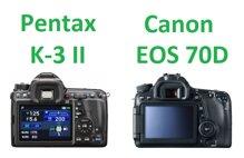 So sánh máy ảnh Pentax K-3 II và Canon EOS 70D