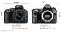 So sánh máy ảnh Pentax K-3 II và Nikon D5500