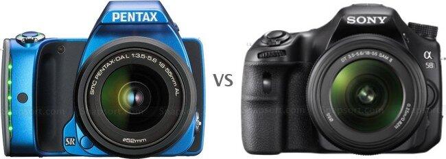 So sánh máy ảnh Pentax K-S1 và Sony A58