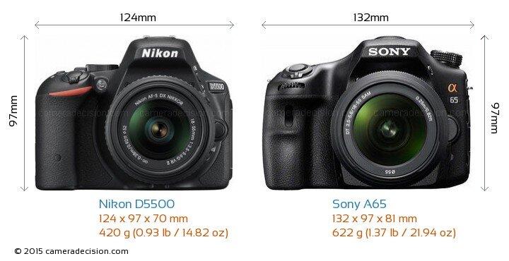 So sánh máy ảnh Sony A65 và Nikon D5500