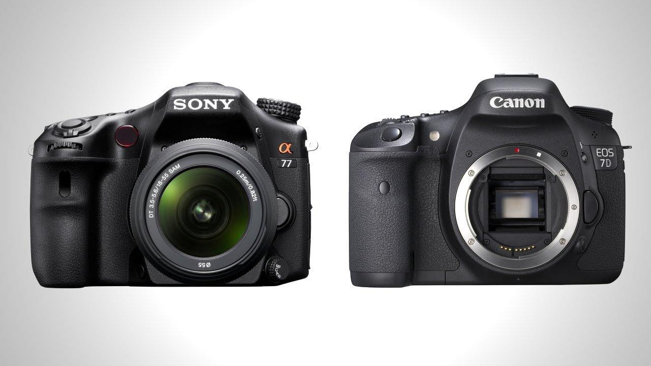 So sánh máy ảnh Sony A77 và Canon 7D