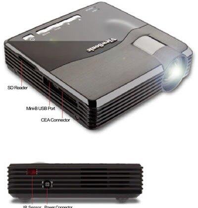 So sánh máy chiếu mini ViewSonic PLED W200 và InFocus IN1110a