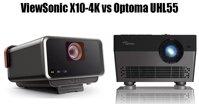 So sánh máy chiếu ViewSonic X10-4K và Optoma UHL55